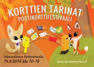 Korttien Tarinat 2019 promootiopostikortti